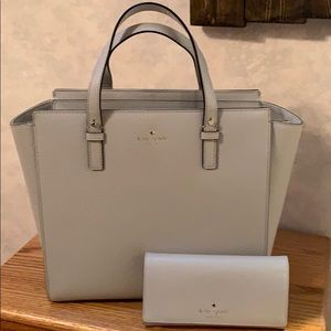 Kate Spade Satchel with matching wallet